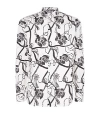 Alexander Mcqueen Ribbon And Crest Shirt Male White