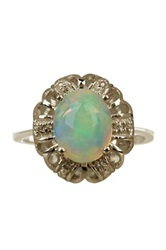 Olivia Leone Sterling Silver Ethiopian Opal Cabochon Ring Multi