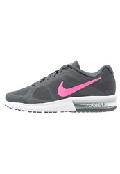Nike Performance Air Max Sequent Neutral Running Shoes Grey Pink