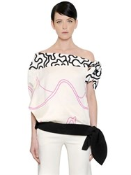 J.W.Anderson Knot Details Printed Crepe Top