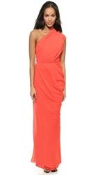 Camilla And Marc Redkite One Shoulder Gown Vermillion