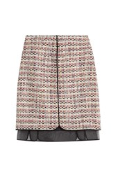 Giambattista Valli Boucle Skirt With Chiffon Multicolor
