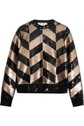 Max Mara Sequined Wool Sweatshirt Black