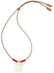 Marni Cross Pendant Necklace Nude And Neutrals