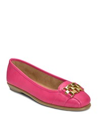 Aerosoles Sure Bet Embellished Faux Leather Flats Pink
