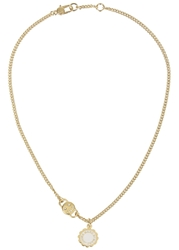 Marc By Marc Jacobs Logo Disc O Gold Tone Necklace