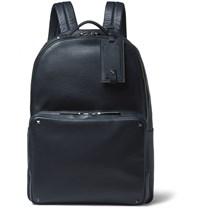 Valentino Studded Grained Leather Backpack Navy