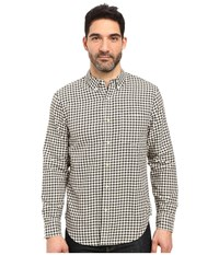 Lucky Brand Smart Military Shirt Black White Men's Clothing