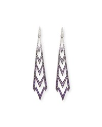 Stephen Webster 18K Lady Stardust Earrings In Ombre Purple