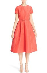 Carolina Herrera Women's Belted Silk Faille A Line Dress