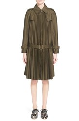 Women's Junya Watanabe Pleated Twill Trench Coat
