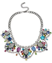 Macy's M. Haskell Hematite Tone Multi Colored Stone Necklace No Color
