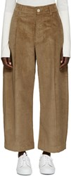 Studio Nicholson Tan Corduroy Bonnard Trousers