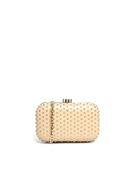 Liquorish Box Clutch Bag With All Over Studs Silver
