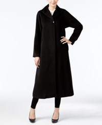 Jones New York A Line Maxi Coat Black