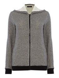 Emporio Armani Visibility Gym Hooded Zip Sweater Grey