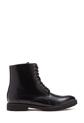 Forever 21 Faux Leather Lug Sole Boots