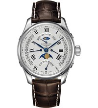 Longines L2.739.4.71.3 Master Moon Phase Stainless Steel And Leather Watch