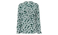 Whistles Daisy Print Blouse Dark Green