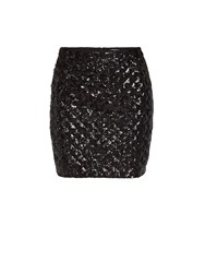 Morgan Pencil Skirt With Sequin Detail Black