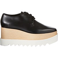 Stella Mccartney Women's Britt Platform Oxfords Black Blue Black Blue