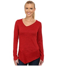 Kuhl L A Slant Long Sleeve Top Paprika Women's Long Sleeve Pullover Red