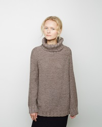 Forme D'expression Hand Knit Turtleneck Sweater Light Brown