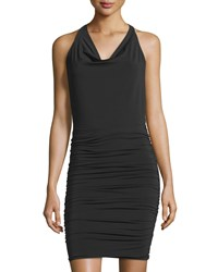 Bcbgmaxazria Jaide Cowl Neck Halter Dress Black