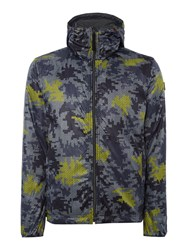 Duck And Cover Avatar Reversible Camouflage Jacket Charcoal