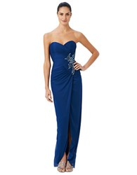 Adrianna Papell Shirred Strapless Gown And Shrug Set Night