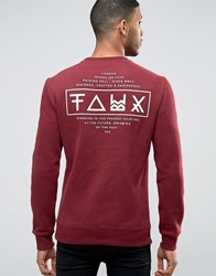 Friend Or Faux Limitless Back Print Sweater Red