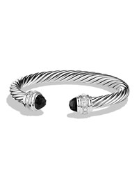 Cable Classics Bracelet With Black Onyx And Diamonds David Yurman