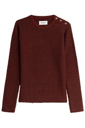 Zadig And Voltaire Pullover With Statement Buttons Red
