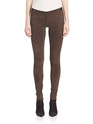 Alice Olivia Suede Legging Pants Grey