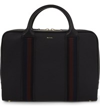 Paul Smith Accessories City Webbing Leather Briefcase Black