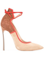 Casadei Stiletto Pumps Nude Neutrals
