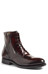 Aquatalia By Marvin K Men's 'Victor' Plain Toe Boot Burgundy Leather