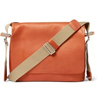 Brooks England Paddington Canvas Trimmed Leather Messenger Bag Camel