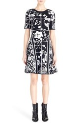 Kenzo Women's 'Tanami Flower' Intarsia Knit Fit And Flare Dress