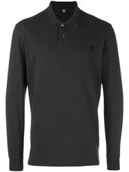 Paul Smith Ps By Longsleeved Polo Shirt Grey