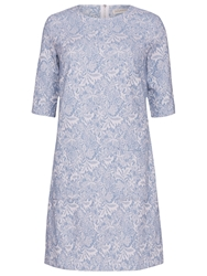 Sugarhill Boutique Floral Jacquard Tunic Dress Blue