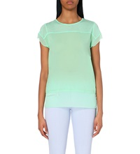 French Connection Polly Raw Edged Jersey Top Mint Mojito
