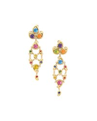 Paisley Multicolor Cabochon Drop Earrings Amethyst Tamara Comolli