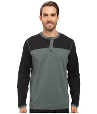 Mountain Hardwear Cragger Henley Thunderhead Grey Men's Long Sleeve Pullover Gray