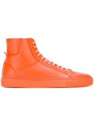 Givenchy Classic Hi Top Sneakers Yellow Orange