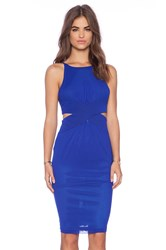 Shakuhachi Cutaway Dress Blue