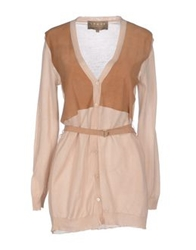 Space Style Concept Cardigans Brown