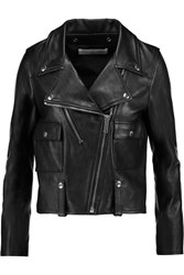Golden Goose Leather Biker Jacket Black