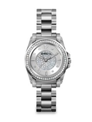 Breil Milano Manta Crystal And Stainless Steel Bracelet Watch Silver