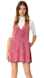Free People Retro Love Suede Dress Rose